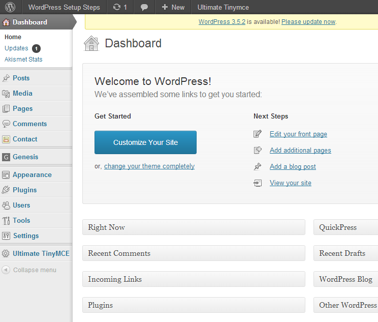 WordPressDashboard