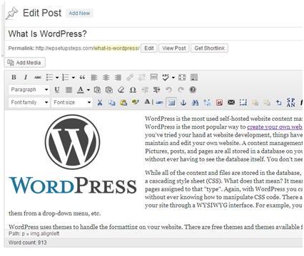 WordPressPostEditor